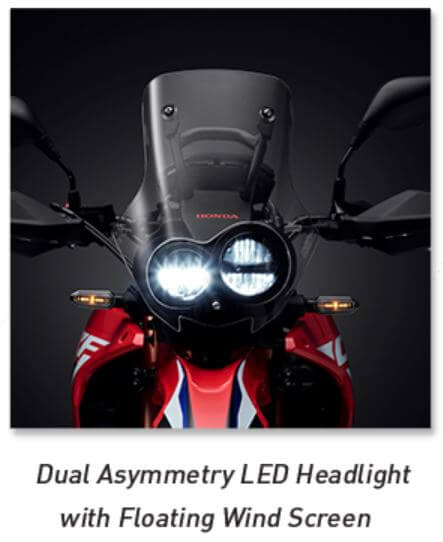Dual Asymmetry LED Headlight with Floating Wind Screen