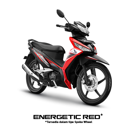 Energetic Red Honda Supra X 125 FI