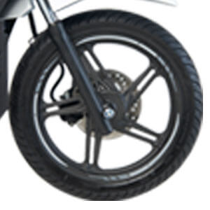 Sporty Cast Wheel With Tubeless Tire