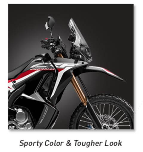 Fitur Honda CRF250RALLY - Sporty Color Tougher Look