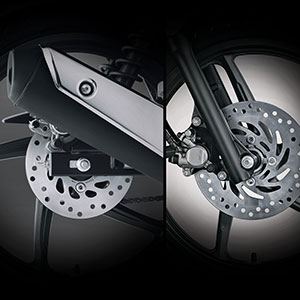 Sporty Front Rear Disc Brake